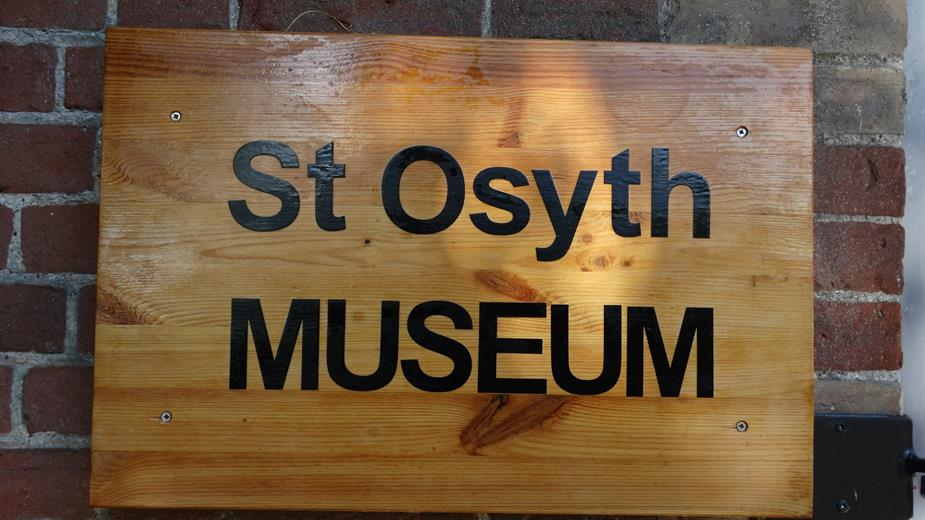 St Osyth Museum Sign