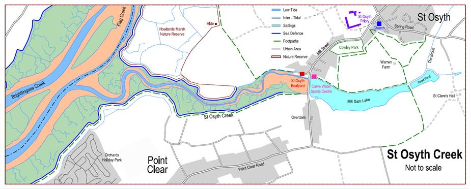 Map of St Osyth Creek - Available as PDF Download